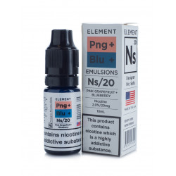 Pink Grapefruit + Blueberry (Sels de Nicotine) - Element | 10ml